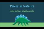 Dinosaure Carte d'affaire - gabarit prédéfini. <br/>Utilisez notre logiciel Avery Design & Print Online pour personnaliser facilement la conception.