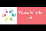 Mains enfantines Étiquettes D'Adresse - gabarit prédéfini. <br/>Utilisez notre logiciel Avery Design & Print Online pour personnaliser facilement la conception.