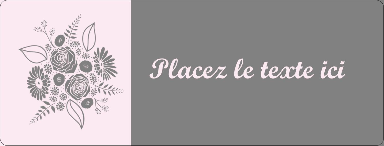 """½"""" x 1¾"""" Étiquettes D'Adresse - Bouquet de fleurs"""