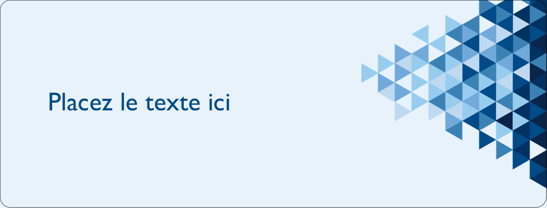 """1"""" x 4"""" Étiquettes d'adresse - Angles bleus"""