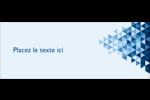 Angles bleus  Étiquettes d'adresse - gabarit prédéfini. <br/>Utilisez notre logiciel Avery Design & Print Online pour personnaliser facilement la conception.