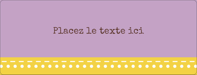 """½"""" x 1¾"""" Étiquettes D'Adresse - Lavande géométrique"""