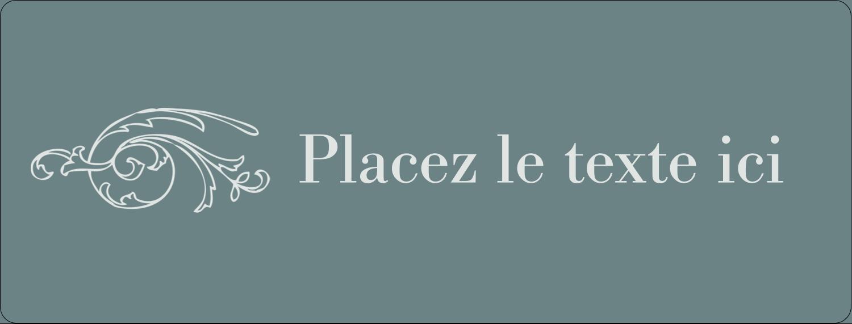 """½"""" x 1¾"""" Étiquettes D'Adresse - Cachet français"""