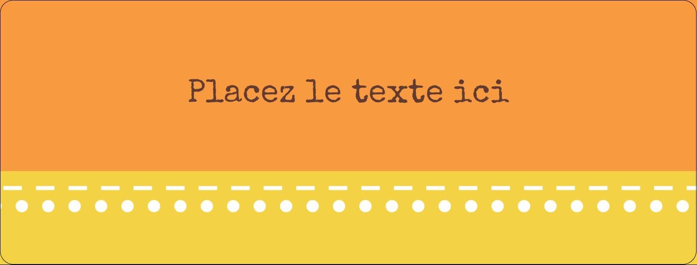 """½"""" x 1¾"""" Étiquettes D'Adresse - Fleurs orange géométriques"""
