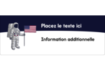 Astronaute Étiquettes D'Adresse - gabarit prédéfini. <br/>Utilisez notre logiciel Avery Design & Print Online pour personnaliser facilement la conception.