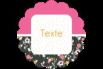 Fleurs modernes Étiquettes rondes - gabarit prédéfini. <br/>Utilisez notre logiciel Avery Design & Print Online pour personnaliser facilement la conception.