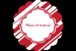 Motif de canne de bonbon Étiquettes rondes - gabarit prédéfini. <br/>Utilisez notre logiciel Avery Design & Print Online pour personnaliser facilement la conception.