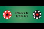 Partie de poker Affichette - gabarit prédéfini. <br/>Utilisez notre logiciel Avery Design & Print Online pour personnaliser facilement la conception.