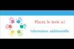 Mains enfantines Affichette - gabarit prédéfini. <br/>Utilisez notre logiciel Avery Design & Print Online pour personnaliser facilement la conception.