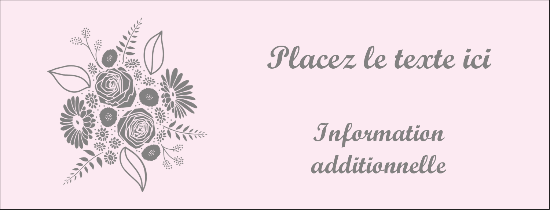 """1-7/16"""" x 3¾"""" Affichette - Bouquet de fleurs"""