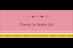 Fleurs roses géométriques Affichette - gabarit prédéfini. <br/>Utilisez notre logiciel Avery Design & Print Online pour personnaliser facilement la conception.