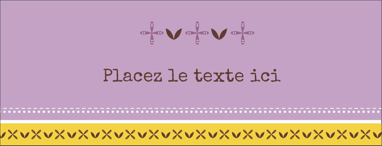 """1-7/16"""" x 3¾"""" Affichette - Lavande géométrique"""