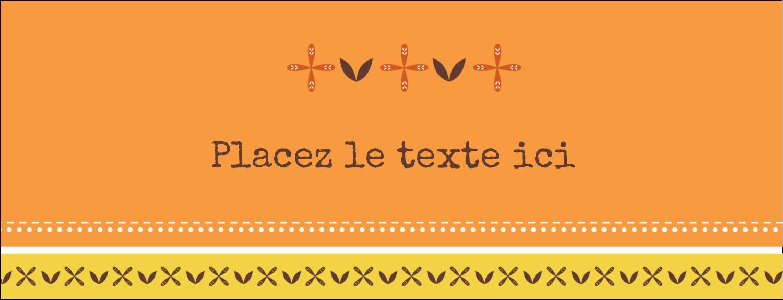 """1-7/16"""" x 3¾"""" Affichette - Fleurs orange géométriques"""
