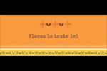 Fleurs orange géométriques Affichette - gabarit prédéfini. <br/>Utilisez notre logiciel Avery Design & Print Online pour personnaliser facilement la conception.