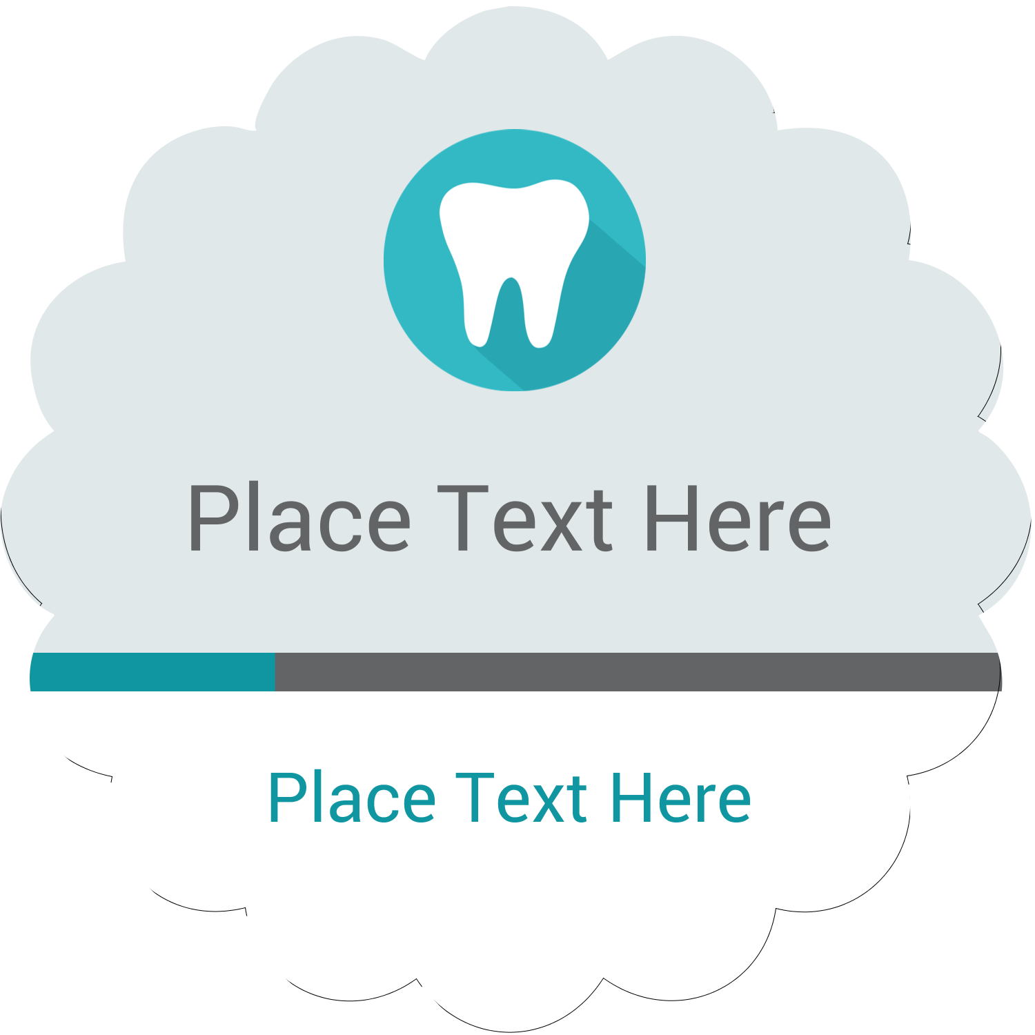 """2½"""" Scallop Labels - Dentist Tooth"""