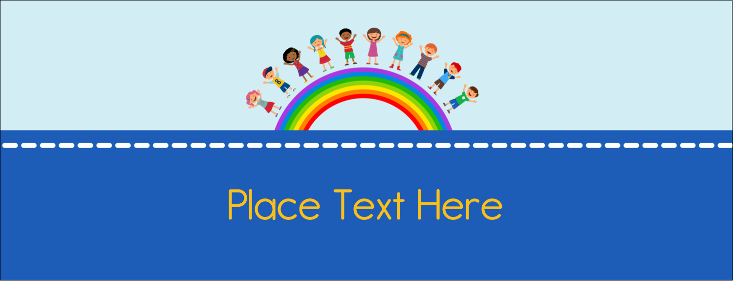 """1-7/16"""" x 3¾"""" Tent Card - Childcare Education"""
