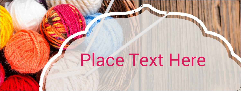 "½"" x 1¾"" Address Label - Knitting Crafts"