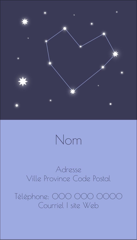 """2"""" x 3½"""" Carte d'affaire - Étoiles d'anniversaire"""