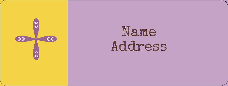 "⅔"" x 1¾"" Address Label - Geometric Lavender Blossoms"