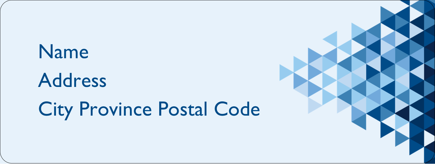 "⅔"" x 1¾"" Address Label - Blue Angles"