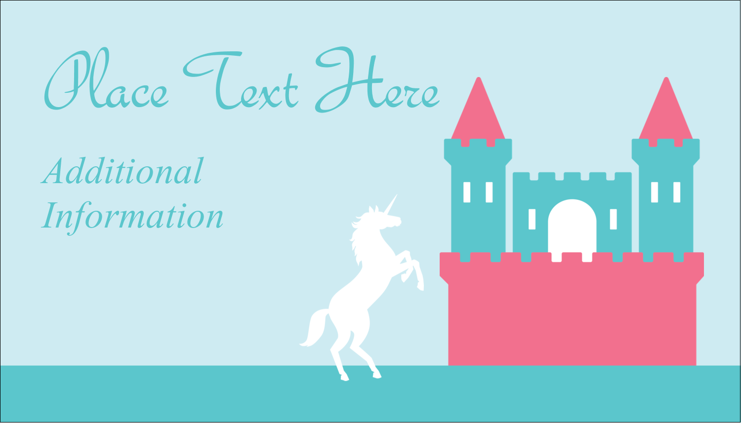 "2"" x 3½"" Business Card - Castle"