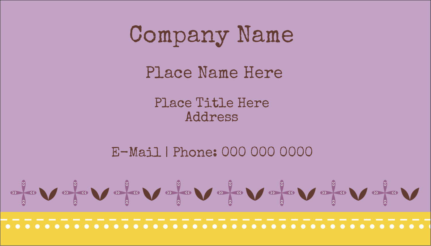 "2"" x 3½"" Business Card - Geometric Lavender Blossoms"