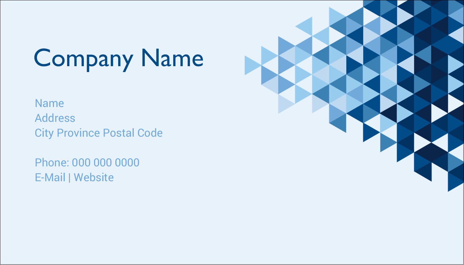 "2"" x 3½"" Business Card - Blue Angles"