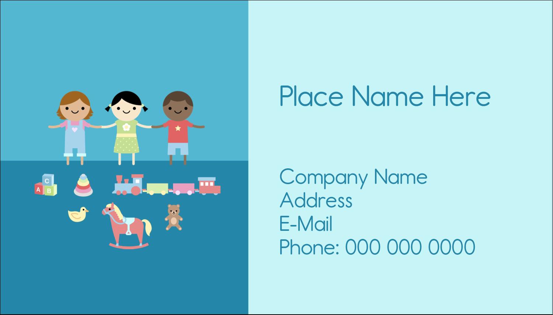 "2"" x 3½"" Business Card - Babysitting Education"