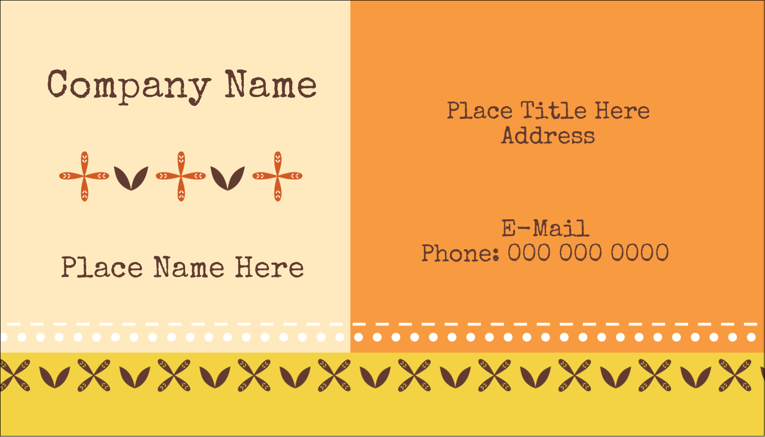 "2"" x 3½"" Business Card - Geometric Orange Blossoms"