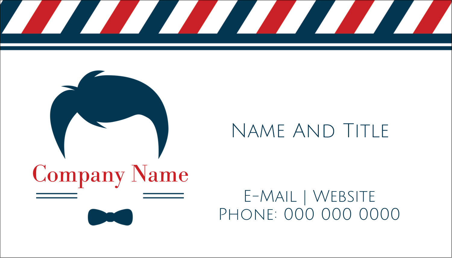 "2"" x 3½"" Business Card - Barber Shop"