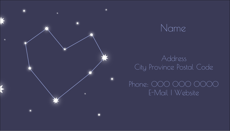 "2"" x 3½"" Business Card - Anniversary Stars"