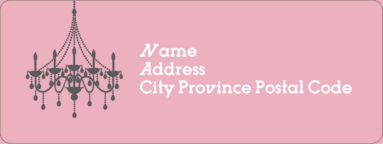 "⅔"" x 1¾"" Address Label - Chandelier"