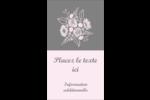 Bouquet de fleurs Carte d'affaire - gabarit prédéfini. <br/>Utilisez notre logiciel Avery Design & Print Online pour personnaliser facilement la conception.