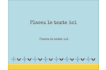 Bain bleu Carte Postale - gabarit prédéfini. <br/>Utilisez notre logiciel Avery Design & Print Online pour personnaliser facilement la conception.