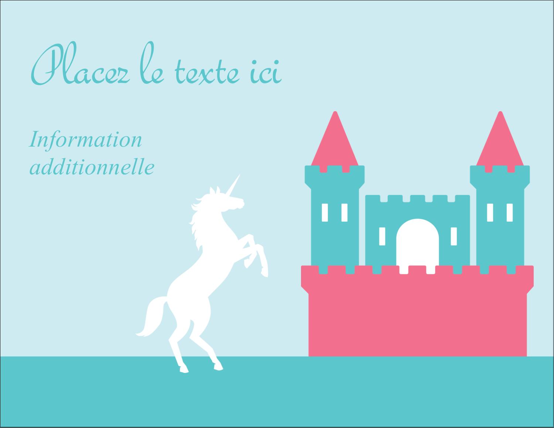 """4¼"""" X 5½"""" Carte Postale - Château"""