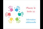 Mains enfantines Carte Postale - gabarit prédéfini. <br/>Utilisez notre logiciel Avery Design & Print Online pour personnaliser facilement la conception.