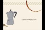 L'heure du café Carte Postale - gabarit prédéfini. <br/>Utilisez notre logiciel Avery Design & Print Online pour personnaliser facilement la conception.