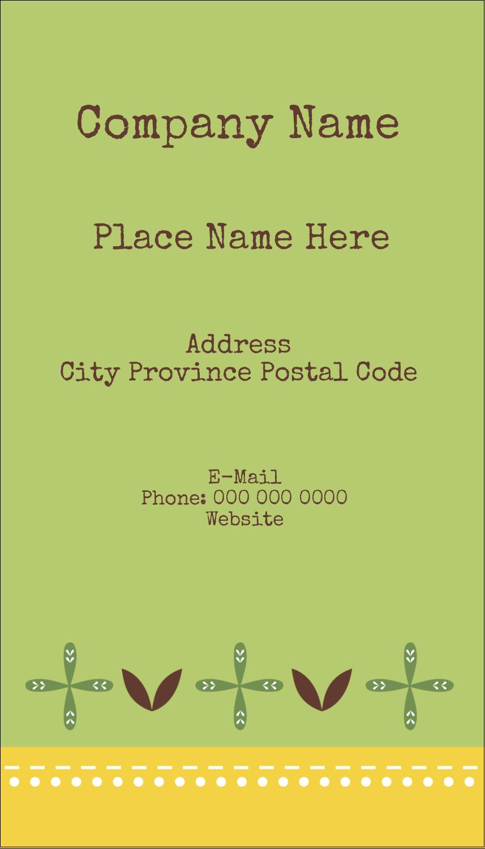 "3½"" x 2"" Business Card - Geometric Green Blossoms"