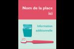 Soie dentaire Carte Postale - gabarit prédéfini. <br/>Utilisez notre logiciel Avery Design & Print Online pour personnaliser facilement la conception.