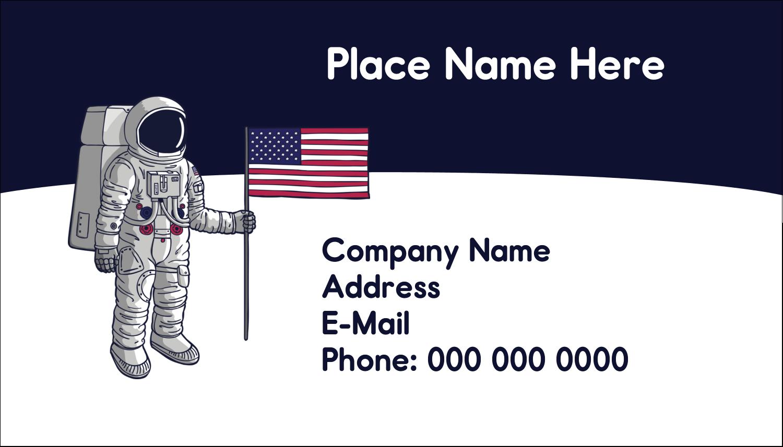 "2"" x 3½"" Business Card - Astronaut"