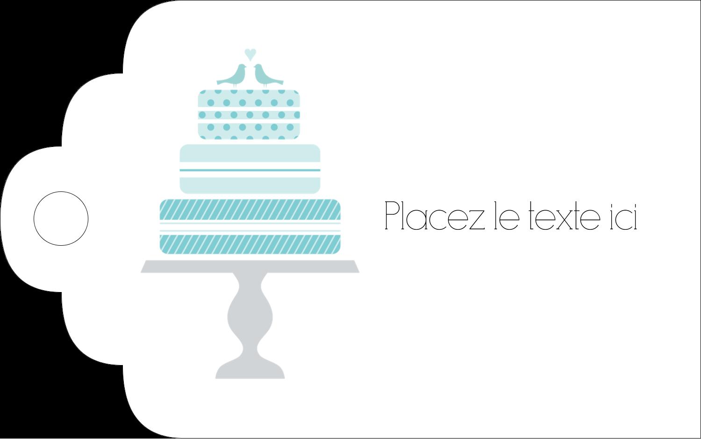 """2"""" x 1⅛"""" Étiquettes imprimables - Figurines d'oiseau bleu pour gâteau de noces"""