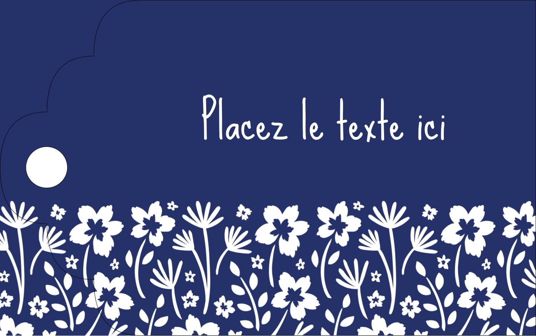 """2"""" x 1⅛"""" Étiquettes imprimables - Petit bouquet bleu"""