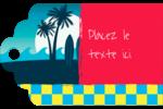 Surf tropical Étiquettes imprimables - gabarit prédéfini. <br/>Utilisez notre logiciel Avery Design & Print Online pour personnaliser facilement la conception.
