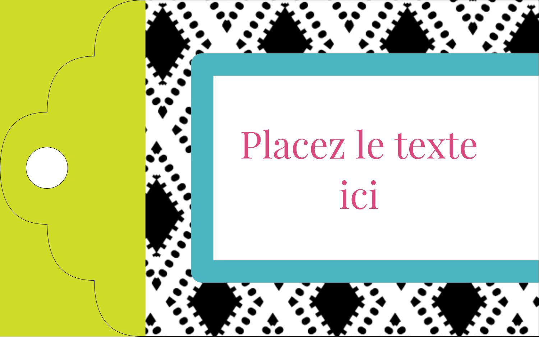 """2"""" x 1⅛"""" Étiquettes imprimables - Damas décoratif"""