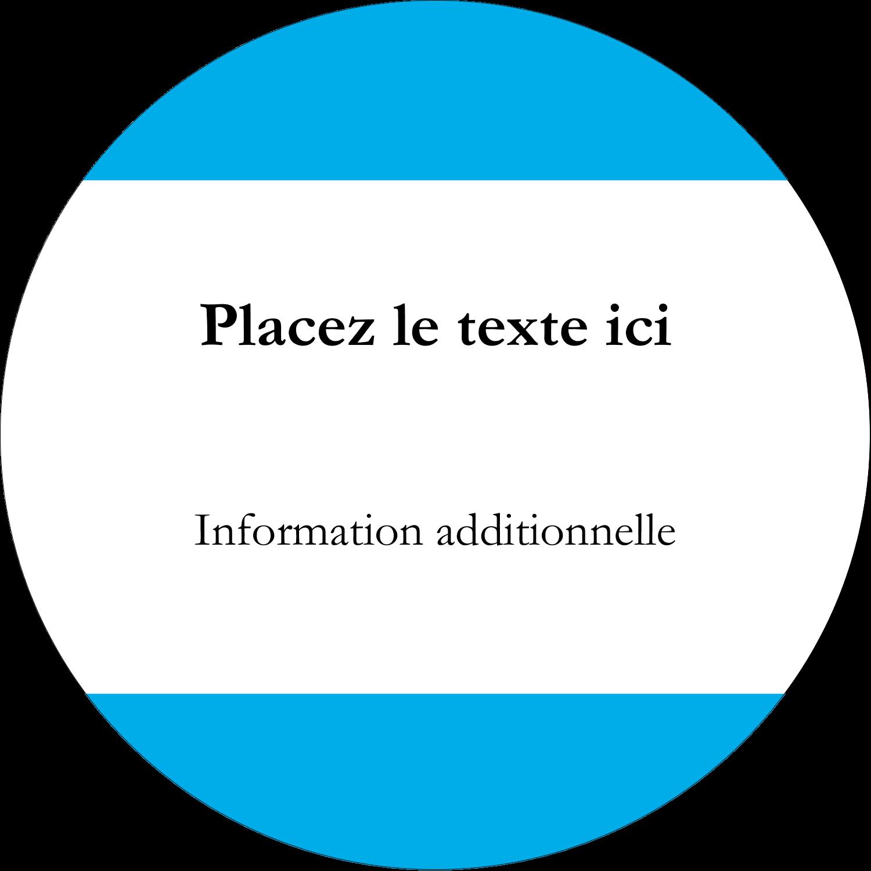 """3"""" Diameter Étiquettes rondes - Barre bleue"""