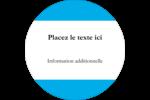 Barre bleue Étiquettes rondes - gabarit prédéfini. <br/>Utilisez notre logiciel Avery Design & Print Online pour personnaliser facilement la conception.