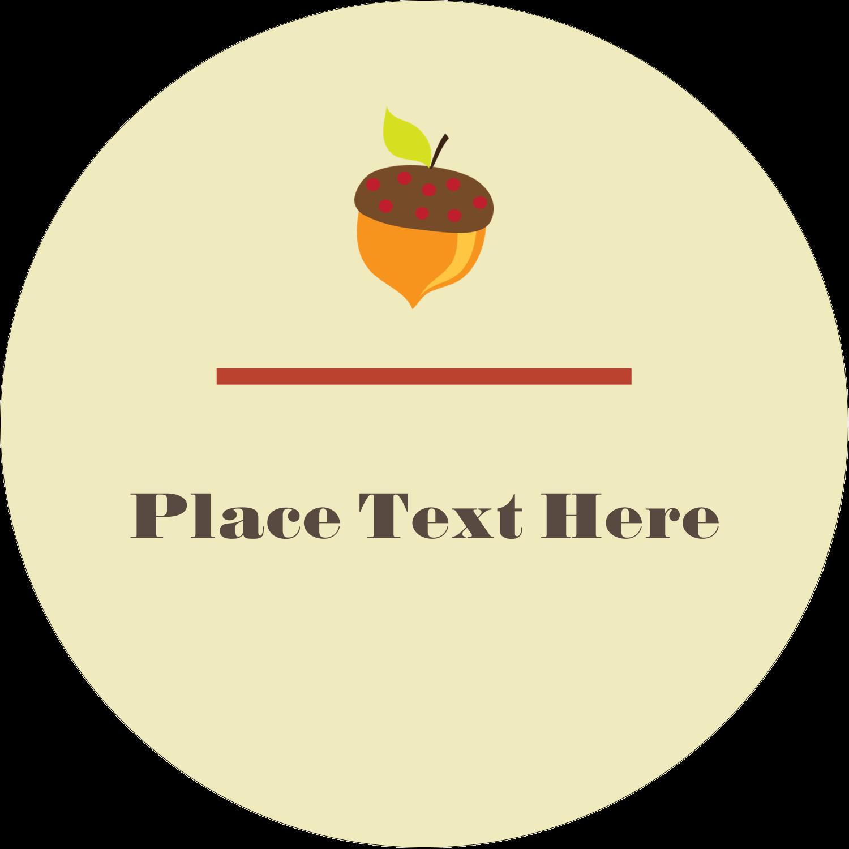 """3"""" Round Label - Acorn Tree"""