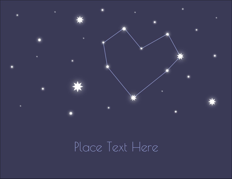 """4¼"""" x 5½"""" Postcard - Anniversary Stars"""