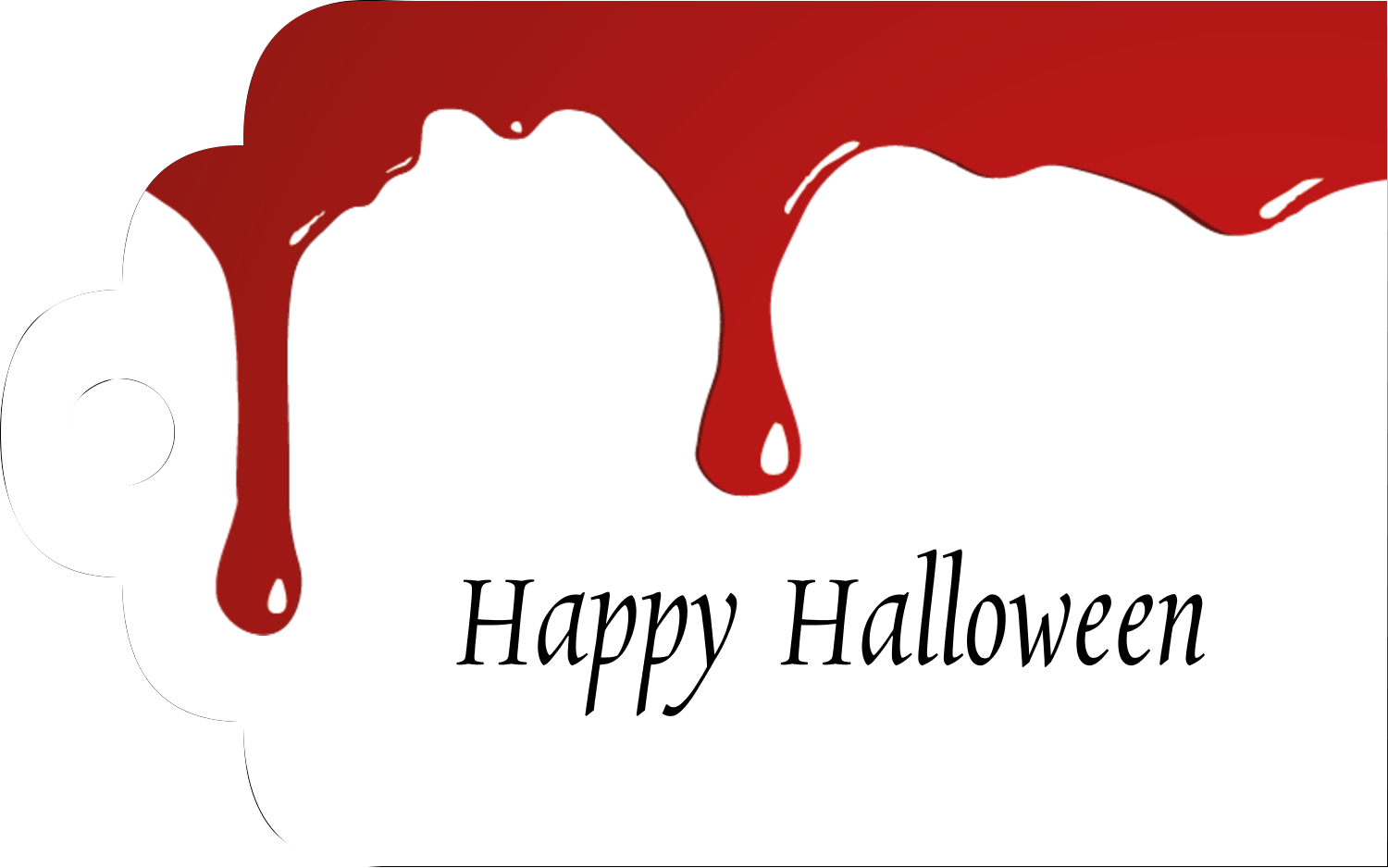 Printable Tags - Bloody Halloween