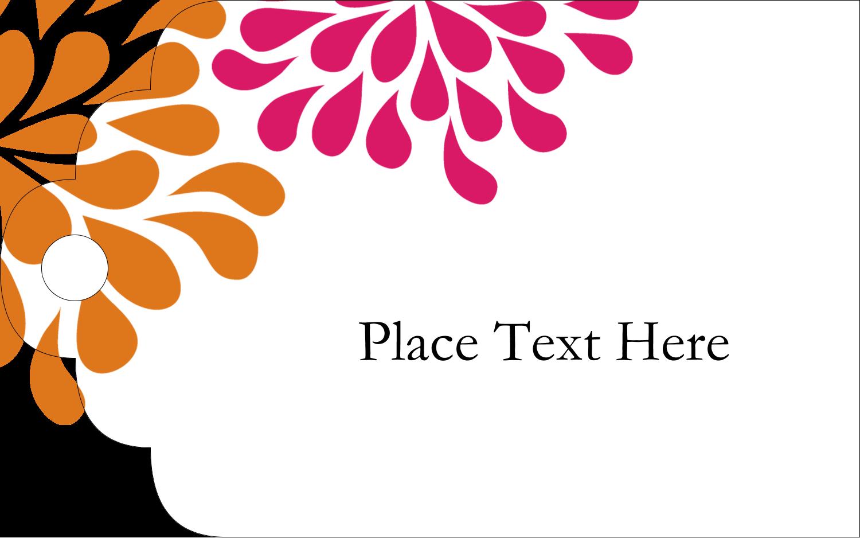 Printable Tags - Bridal Shower Pink Orange